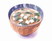 味噌汁(イラスト)
