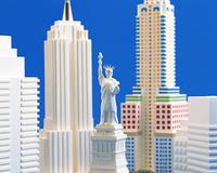 自由の女神と摩天楼(クラフト)
