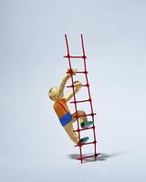 はしごを登る(クラフト)