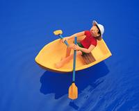 ボートを漕ぐ(クラフト)