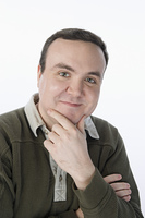 Portrait of mid-adult man, smiling