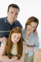 Portrait of sad family