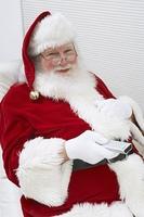 Santa Claus Using Remote Control