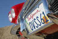 Classic cars number plate, close-up