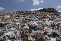 Waste at landfill site