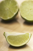 Sliced lime, close-up