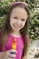 Little Girl with a Recorder