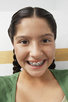 Girl wearing braces,portrait