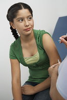 Girl having injection