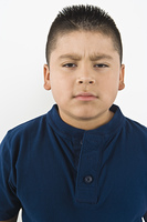Portrait of pre-teen (10-12) boy