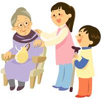 祖母を介護する子ども