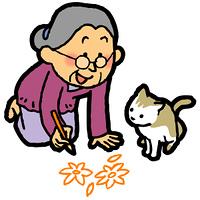 絵を描くおばあちゃん