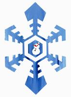 雪の結晶 雪だるま