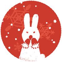 ウサギと雪