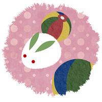 ウサギと紙風船_丸