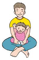 幼児と父親