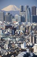富士山と新宿高層ビル群