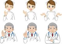 医者看護師表情セット