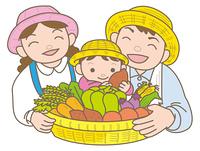 家庭菜園の家族