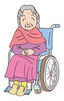 車いすのお婆さん