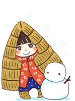 雪ん子と雪だるま