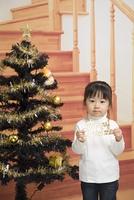 クリスマスツリー飾り付け
