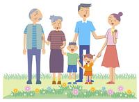 三世代家族でお散歩