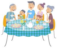 3世代家族でティータイム