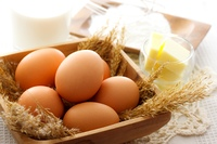 卵、バター、小麦粉、ミルク