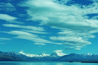 マウントクックと氷河湖