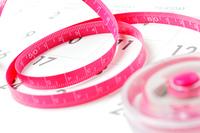 ピンクのダイエットメジャー スケール
