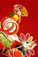 正月 鏡餅 謹賀新年 御幣飾りと迎春