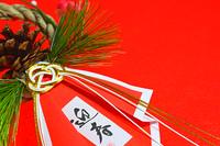 日本の行事お正月 お正月 しめ縄飾り