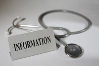 医療窓口インフォメーション と聴診器