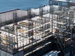 高層マンションの基礎工事