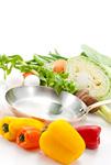 色々な野菜とフライパン