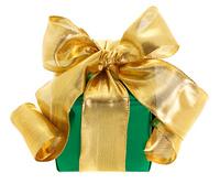 緑のクリスマスギフト