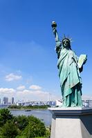 東京 自由の女神像とお台場海浜公園からの眺め