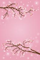 桜バックグラウンド縦長