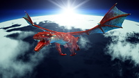 翼竜 ドラゴン(CG)