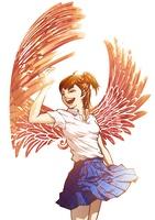 翼をもつ女の子