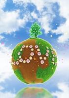 空に浮かぶ球体