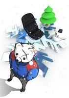 雪の結晶とシロクマ