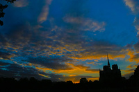 センヌ川の夕方の眺め