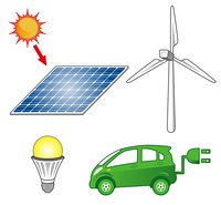 ソ ーラーパネル/風力発電/LED/電気自動車