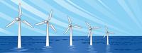 洋上風力発電横位置