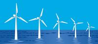 洋上風力発電/海/横位置