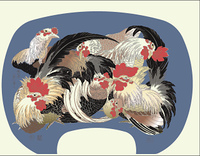 北斎 群鶏