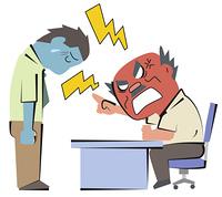 怒られる会社員
