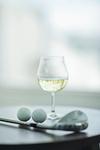 白ワインとゴルフ
